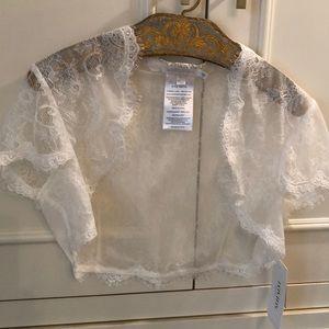 David's Bridal Wedding Lace Shrug  Jacket NWT